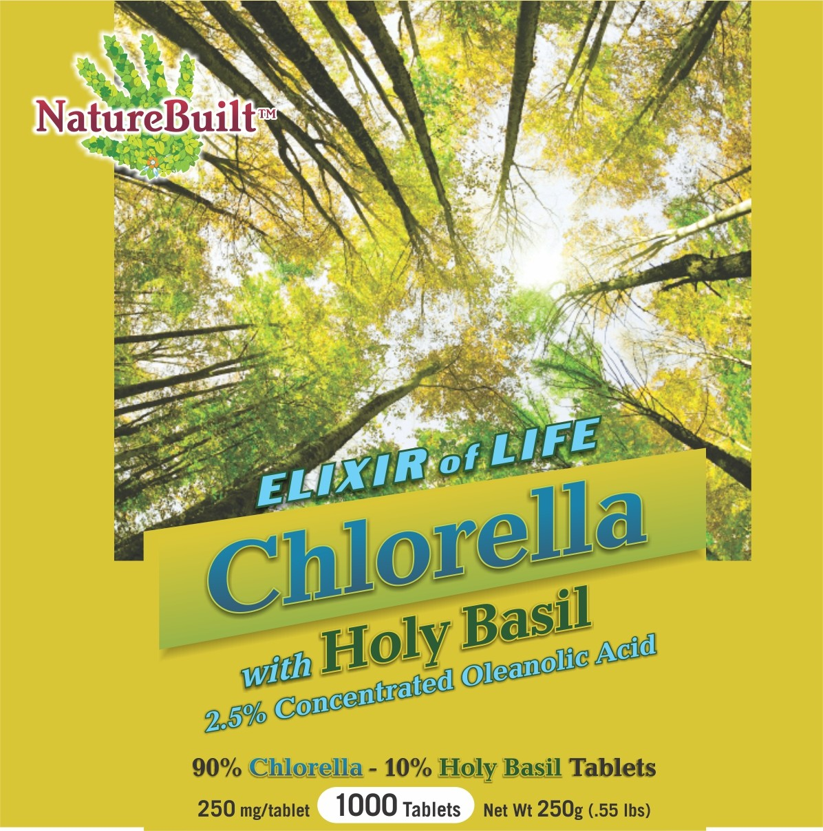 90% Chlorella 10% Holy Basil Tablets