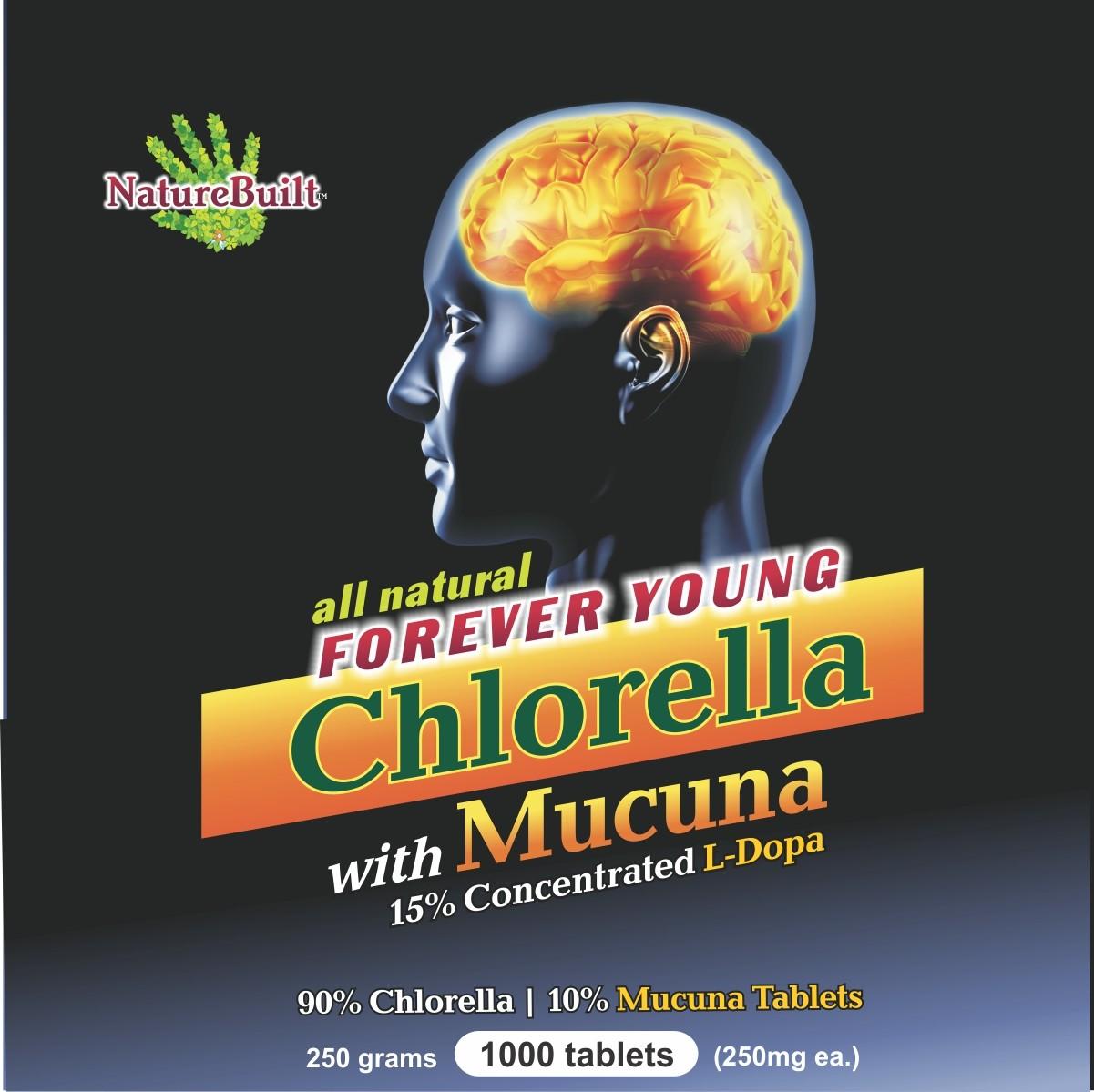90% Chlorella 10% Mucuna Tablets