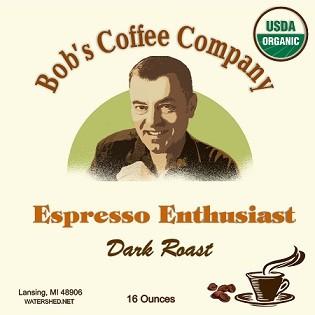 Bob's Coffee Company Espresso Enthusiast Organic Dark Roast