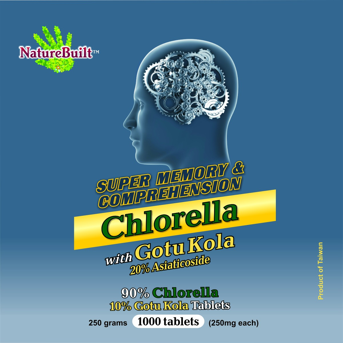 90% Chlorella 10% Gotu Kola Tablets