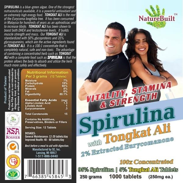 95% Spirulina 5% Tongkat Ali Tablets