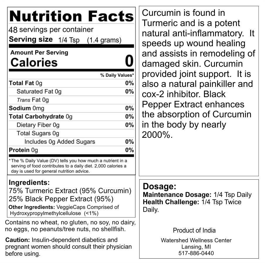 Anti-Inflammatory - Turmeric with Black Pepper Powder (2oz)
