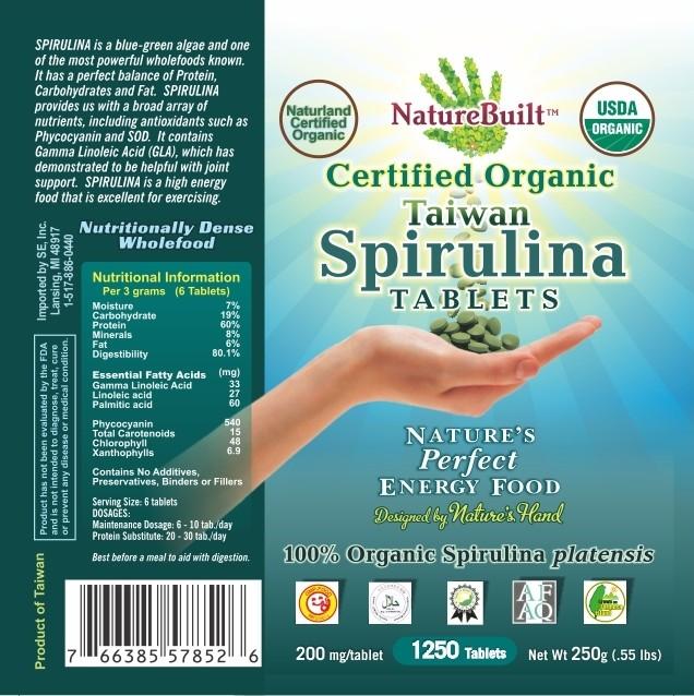 USDA Organic Taiwan Spirulina Tablets