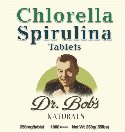 Dr. Bob 50% Chlorella 50% Spirulina Tablets