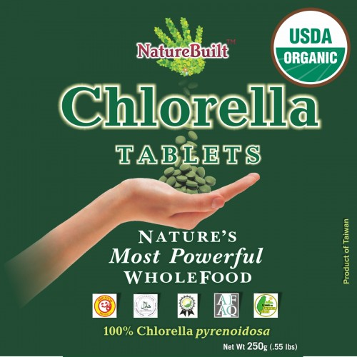 USDA Certified Organic Chlorella Tablets