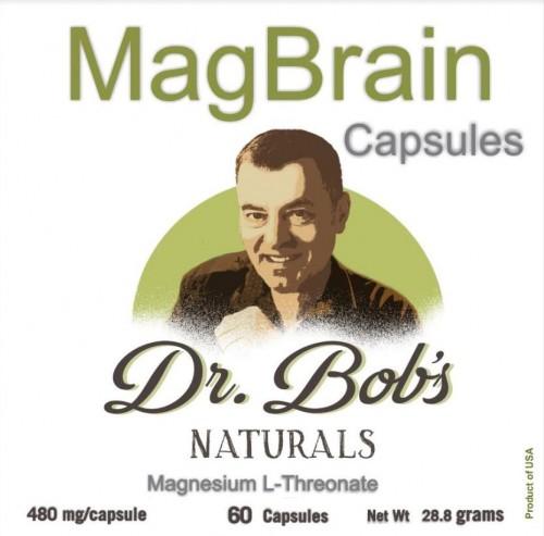 Dr. Bob's MagBrain: Magnesium for the Brain 60 Veggie Capsules