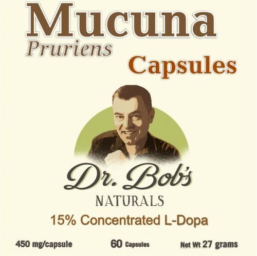 Mood Enhancer - Mucuna - Veggie Capsules (60 Capsules)