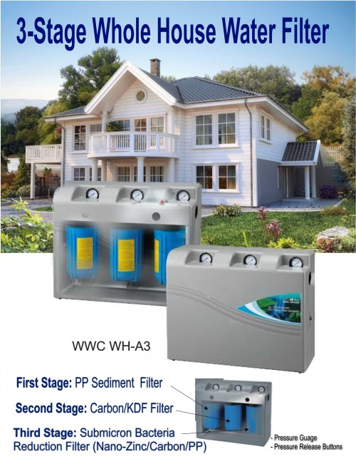 Aquanator 3-Stage Whole House Water Filter (Housing)