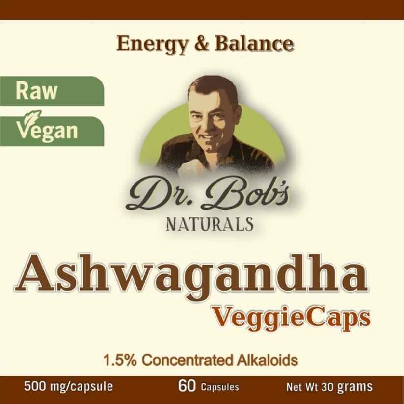 Ashwagandha Veggie Capsules (60 Capsules)