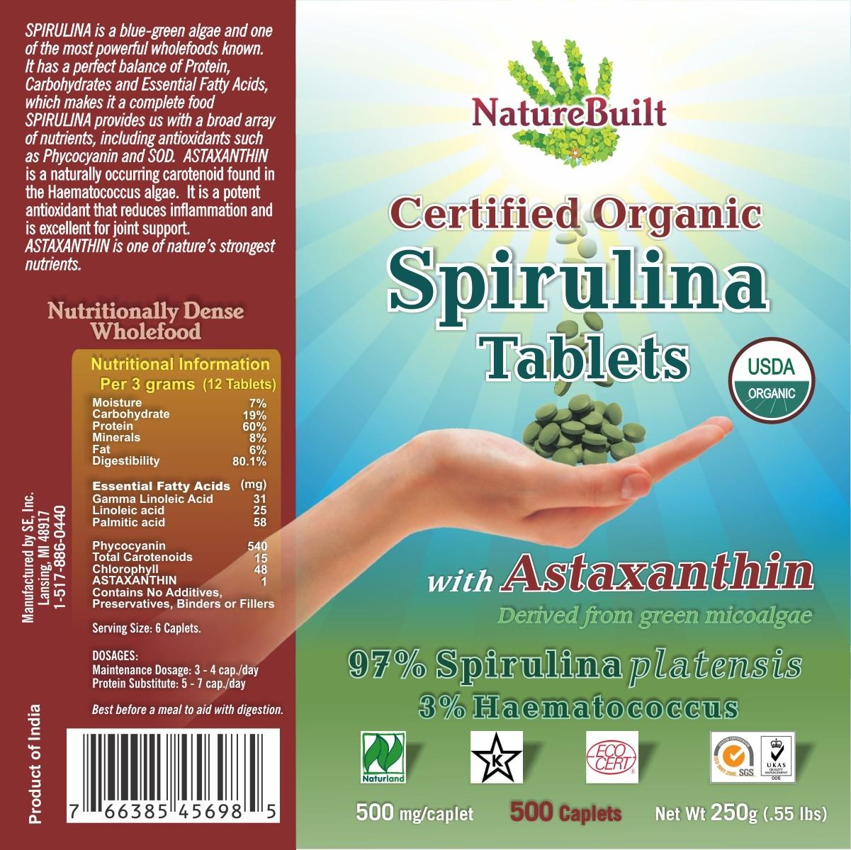 USDA Organic Spirulina with Astaxanthin *EXPIRED