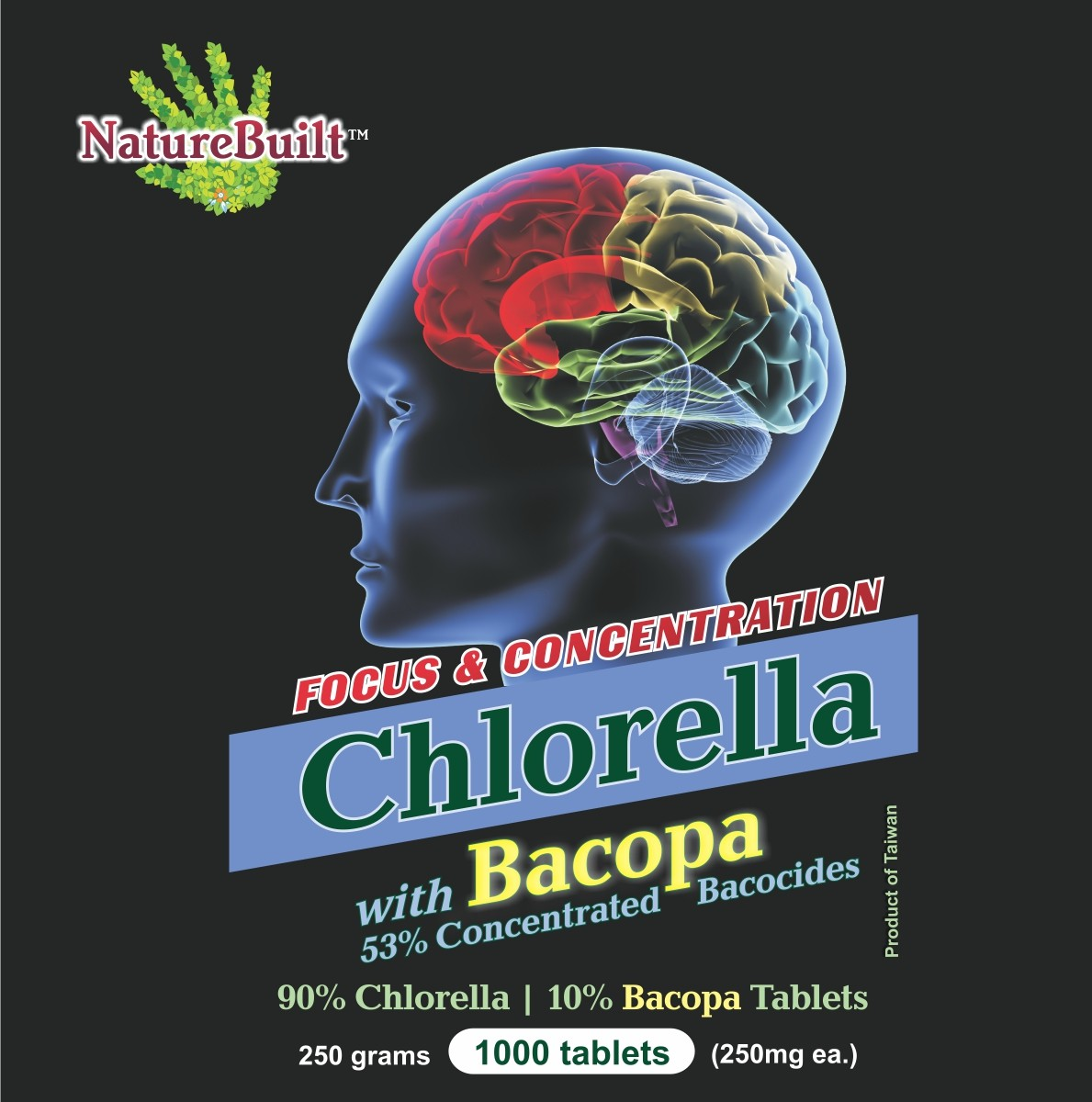 90% Chlorella 10% Bacopa Tablets