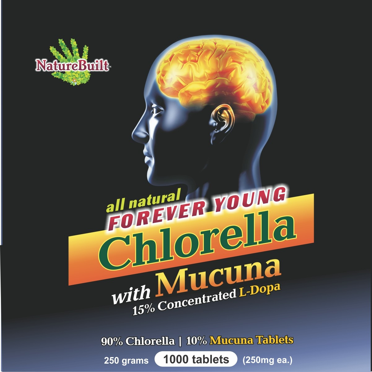 90% Chlorella 10% Mucuna Tablets