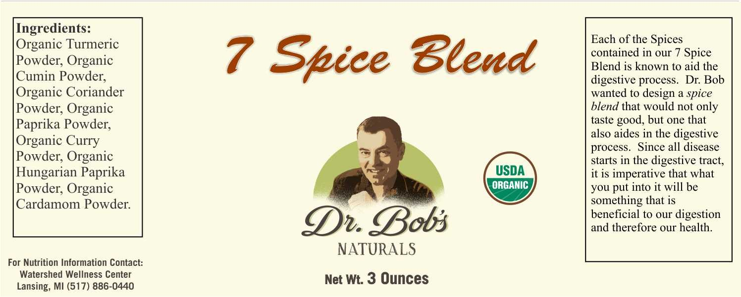 Dr. Bob's 7 Spice Blend