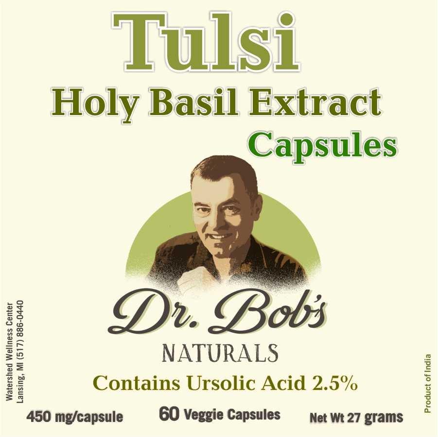 Tulsi - Holy Basil Extract Veggie Capsules (60 Capsules)