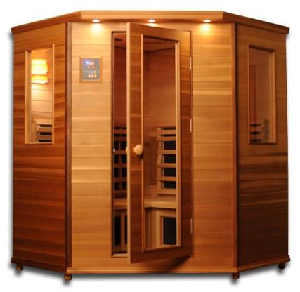 Infrared 3-4 Person Corner Sauna IS-C