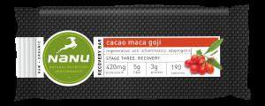 Nanu Cacao Goji Maca Recovery Bar