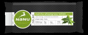 Nanu Matcha Wheatgrass Lemon Energy Bar