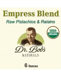 Organic Empress Blend (Organic Pistachios & Organic Himalayan Raisins) - 6 oz.