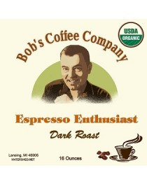 Bob's Coffee Company Espresso Enthusiast Organic Dark Roast