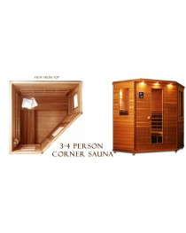 Infrared 3-4 Person Corner Sauna IS-C